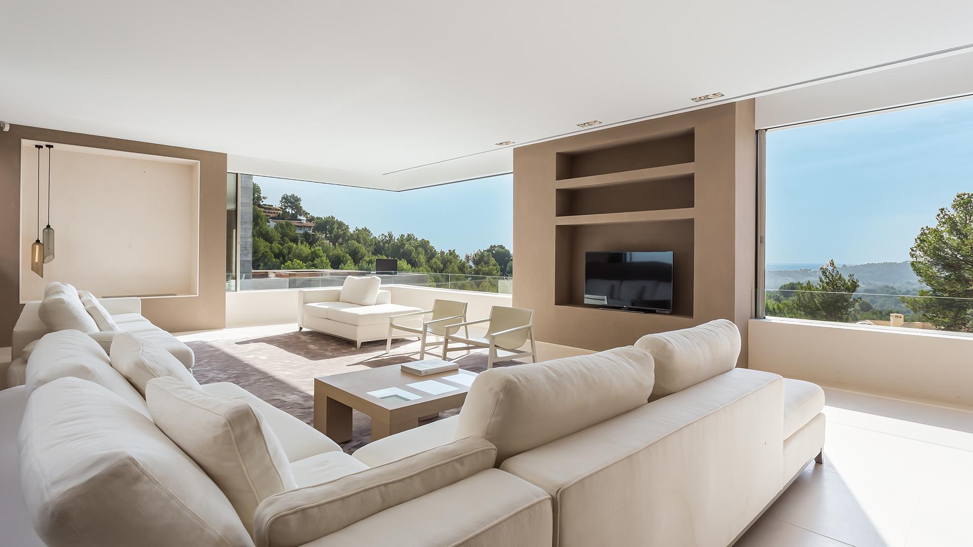 Villa Eleven salón instalación lujo Mallorca