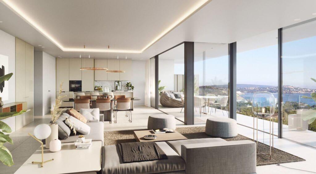 living room salón Sa Puntassa instalación lujo Mallorca